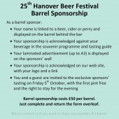 Barrel sponsorship form