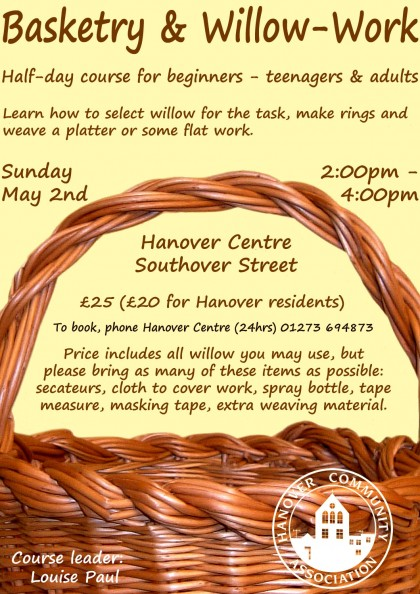 Basketry Workshop poster
