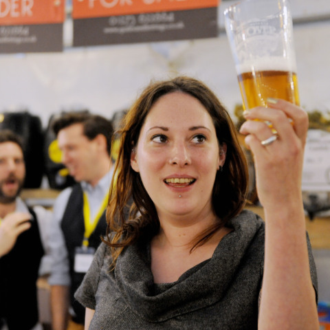 'Curator of Beers' Maria Barney. Photograph taken by Simon Dack