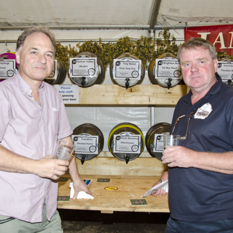 John Fox (The Dover Castle) with John Troake (Hurstpierpoint Brewery)