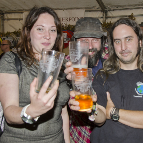 'Curator of Beers' Maria Barney, Mike Powell and Mark Robinson
